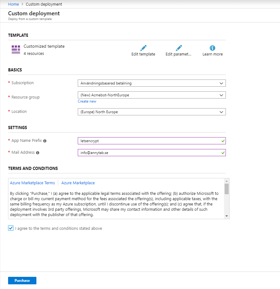 Installera App Service Acmebot
