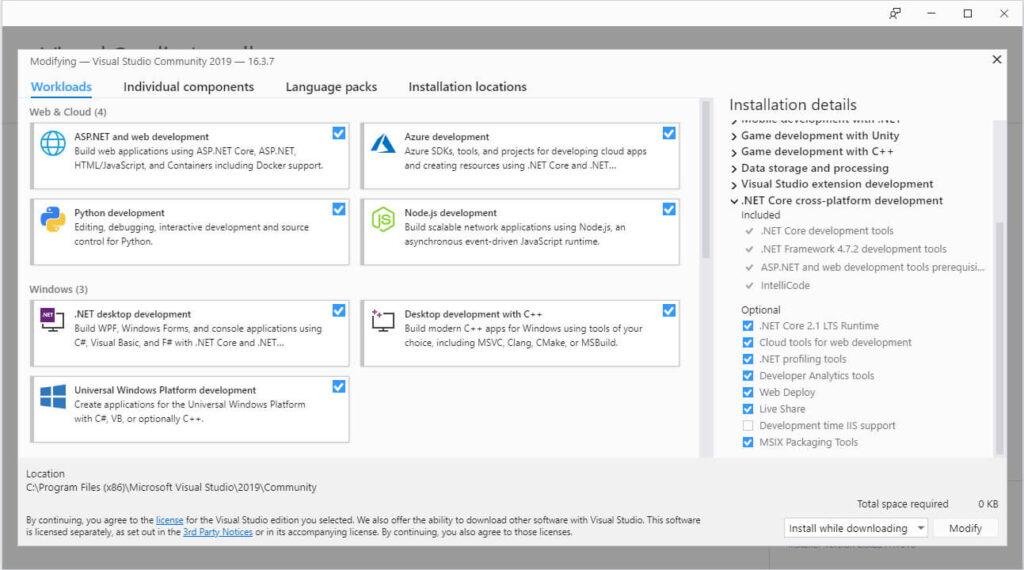 Visual Studio Installer